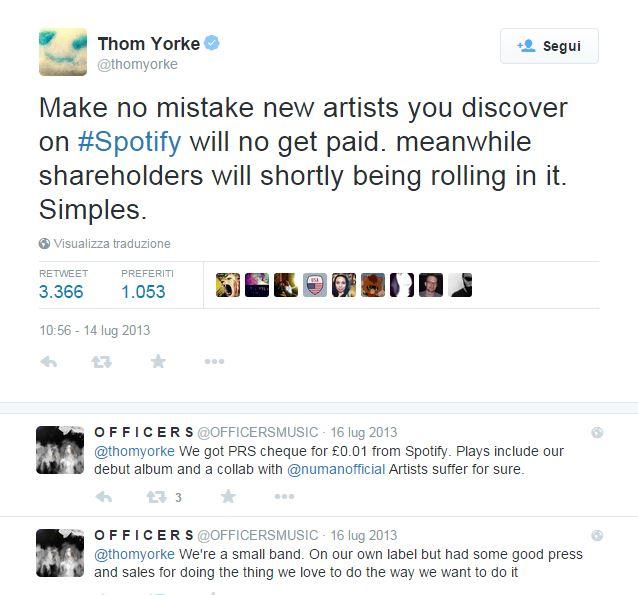 Thom Yorke Spotify