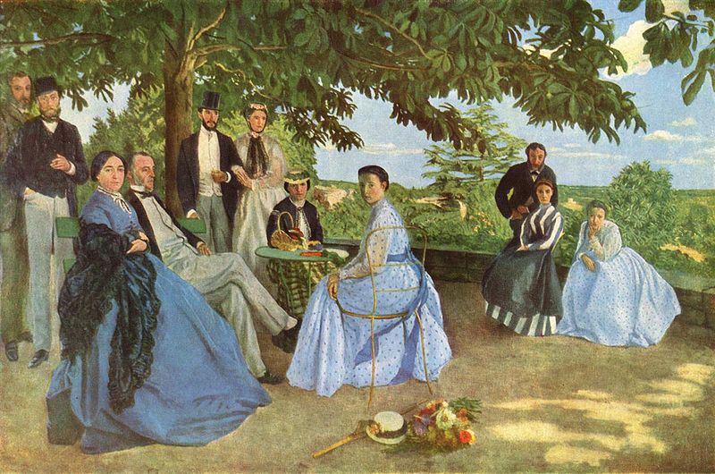 Frédéric Bazille, Riunione di famiglia detto anche Ritratti di famiglia, 1867, olio su tela © RMN-Grand Palais (Musée d'Orsay) / Hervé Lewandowski