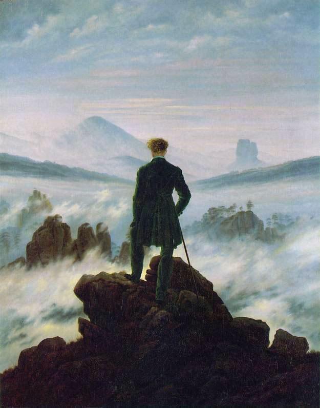 Il viandante sul mare di nebbia Friedrich