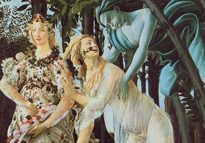 """""""La Primavera"""" di Botticelli: il tripudio della sensualità"""